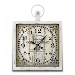 Metalowy zegar biały