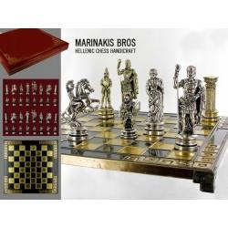 mosiężne szachy 4505