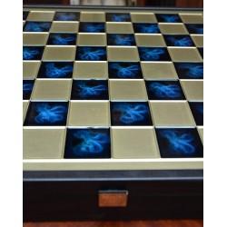 Mosiężne szachy blue